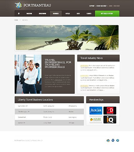 Template 37812 ( Business Page ) ADOBE Photoshop Screenshot