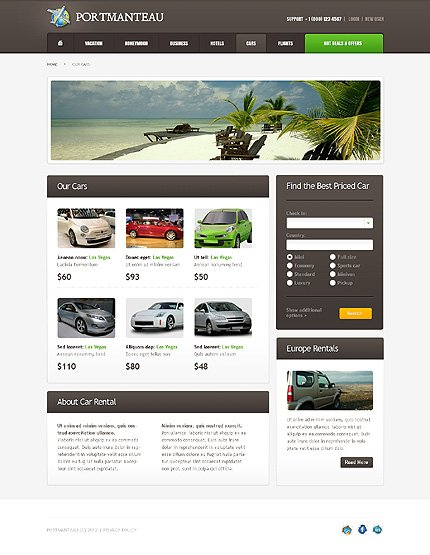 Template 37812 ( Cars Page ) ADOBE Photoshop Screenshot