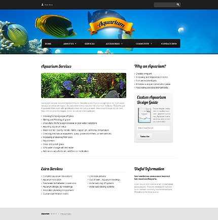 Template 37814 ( Services Page ) ADOBE Photoshop Screenshot