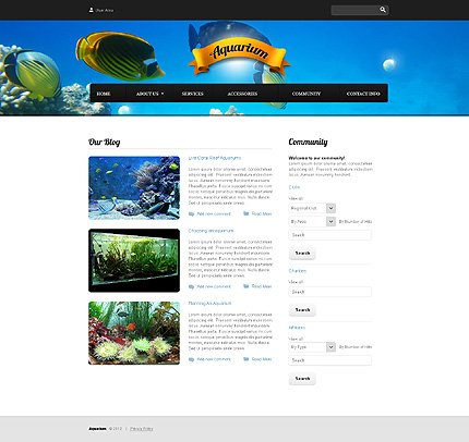 Template 37814 ( Community Page ) ADOBE Photoshop Screenshot