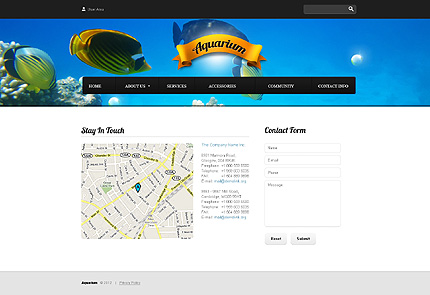 Template 37814 ( Contact info Page ) ADOBE Photoshop Screenshot