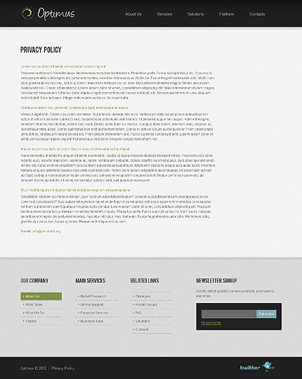 Template 37818 ( Privacy Policy Page ) ADOBE Photoshop Screenshot