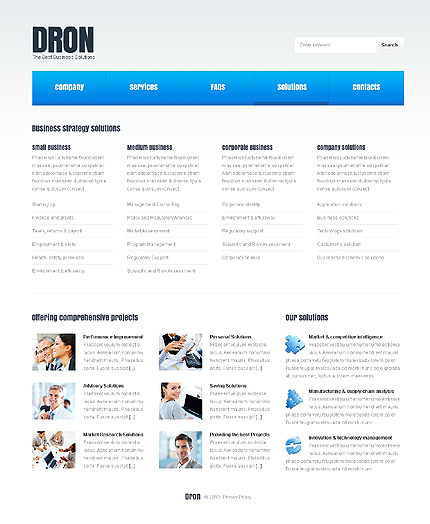 Template 37819 ( Solutions Page ) ADOBE Photoshop Screenshot