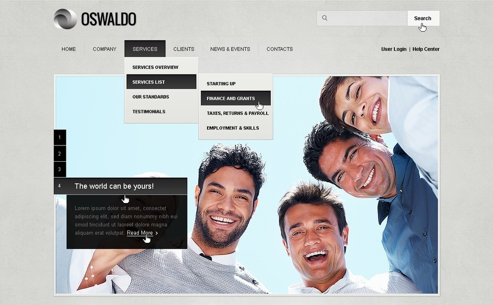 Website Vorlage für Business und Dienstleistungen New Screenshots BIG