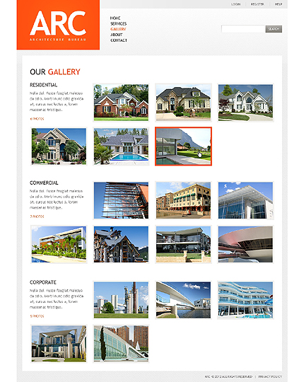 Template 37823 ( Gallery Page ) ADOBE Photoshop Screenshot