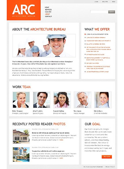 Template 37823 ( About Page ) ADOBE Photoshop Screenshot