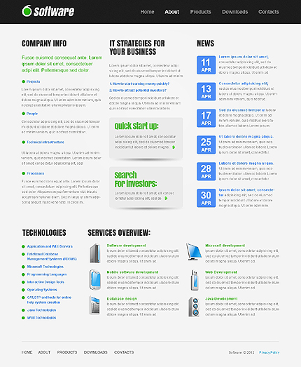 Template 37825 ( About Page ) ADOBE Photoshop Screenshot