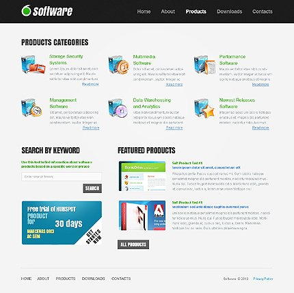 Template 37825 ( Products Page ) ADOBE Photoshop Screenshot