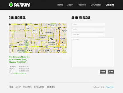 Template 37825 ( Contacts Page ) ADOBE Photoshop Screenshot