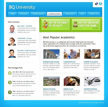 Template 37828 ( Adviser Center Page ) ADOBE Photoshop Screenshot