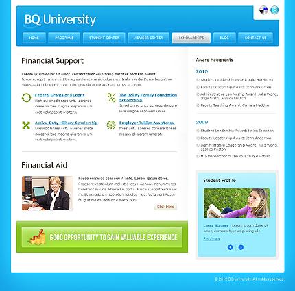 Template 37828 ( Scholarships Page ) ADOBE Photoshop Screenshot