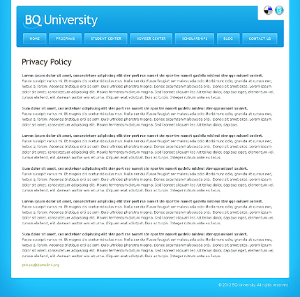 Template 37828 ( Privacy Policy Page ) ADOBE Photoshop Screenshot