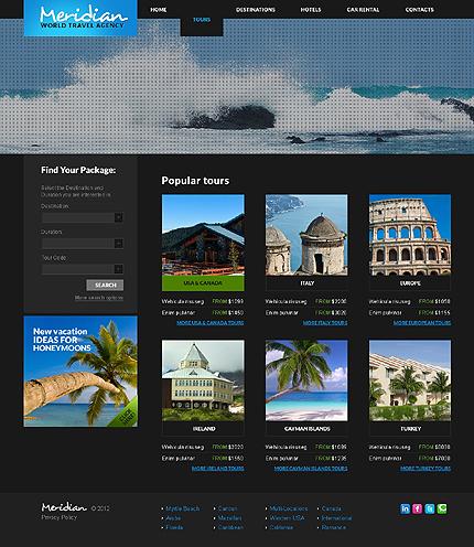 Template 37830 ( Tours Page ) ADOBE Photoshop Screenshot