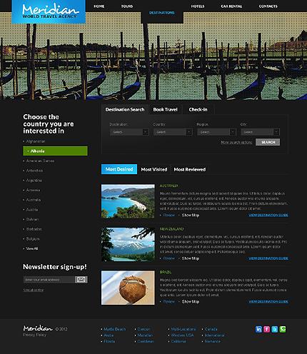 Template 37830 ( Destinations Page ) ADOBE Photoshop Screenshot