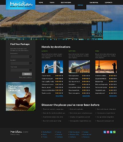 Template 37830 ( Hotels Page ) ADOBE Photoshop Screenshot