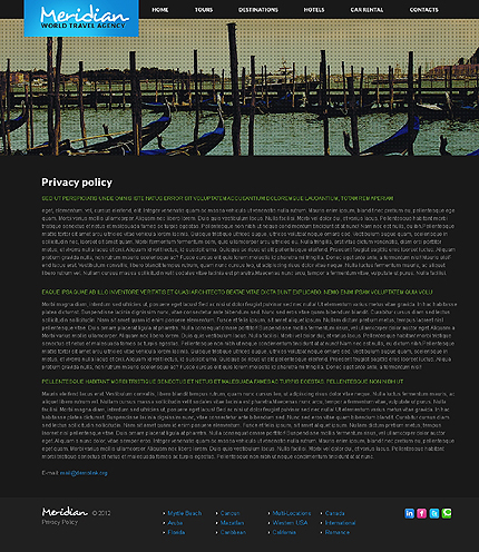 Template 37830 ( Privacy Policy Page ) ADOBE Photoshop Screenshot