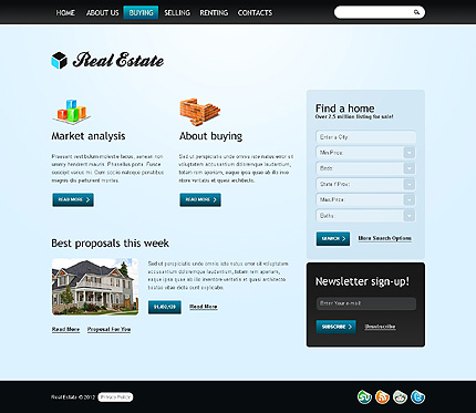 Template 37832 ( Buying Page ) ADOBE Photoshop Screenshot