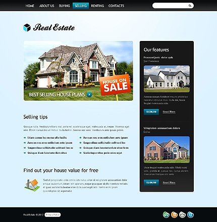 Template 37832 ( Selling Page ) ADOBE Photoshop Screenshot