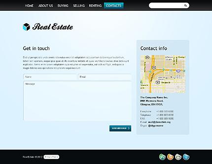 Template 37832 ( Contacts Page ) ADOBE Photoshop Screenshot