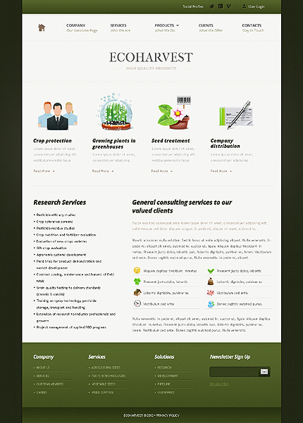 Template 37833 ( Services Page ) ADOBE Photoshop Screenshot