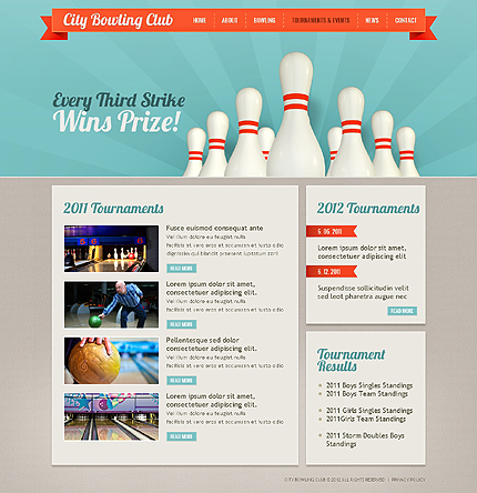 Template 37835 ( Tournaments & Events Page ) ADOBE Photoshop Screenshot