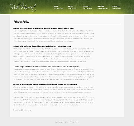 Template 37851 ( Privacy Policy Page ) ADOBE Photoshop Screenshot