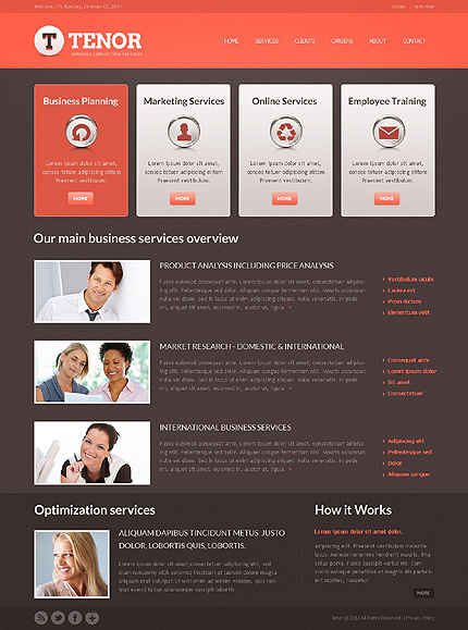 Template 37856 ( Services Page ) ADOBE Photoshop Screenshot