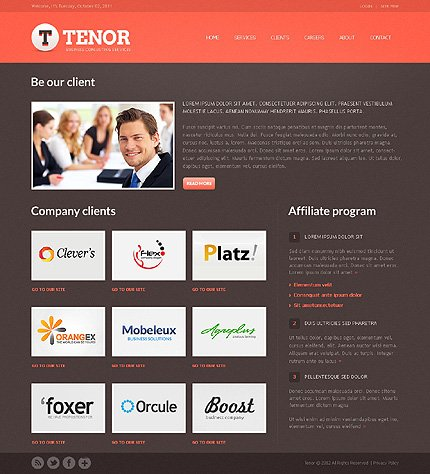 Template 37856 ( Clients Page ) ADOBE Photoshop Screenshot