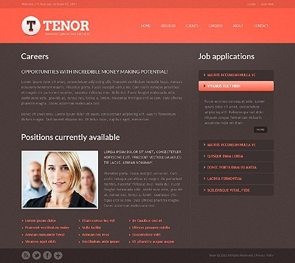 Template 37856 ( Careers Page ) ADOBE Photoshop Screenshot