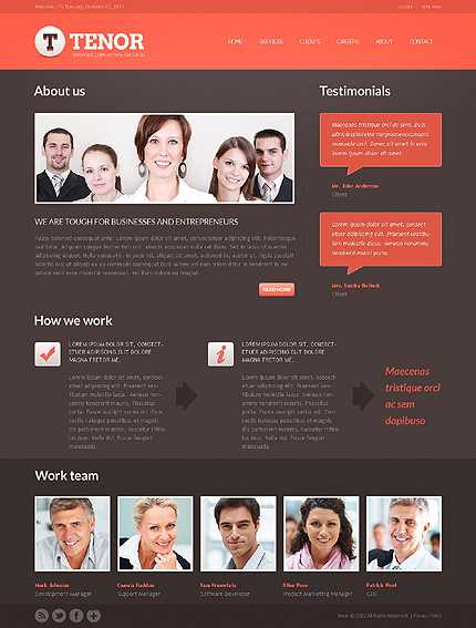 Template 37856 ( About Page ) ADOBE Photoshop Screenshot