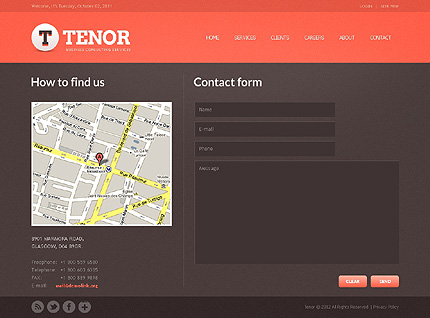 Template 37856 ( Contact Page ) ADOBE Photoshop Screenshot