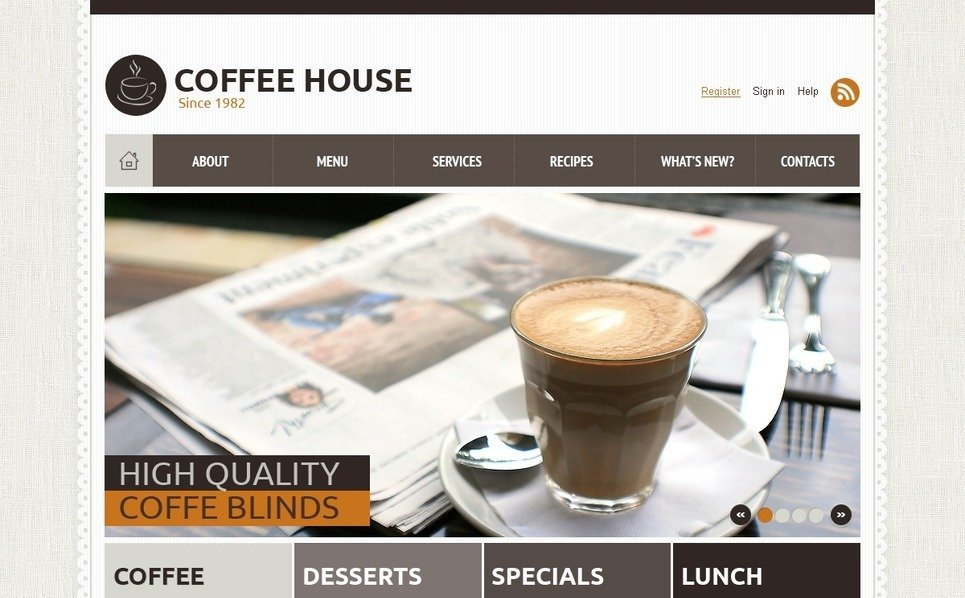Joomla Template over Koffiebar  New Screenshots BIG