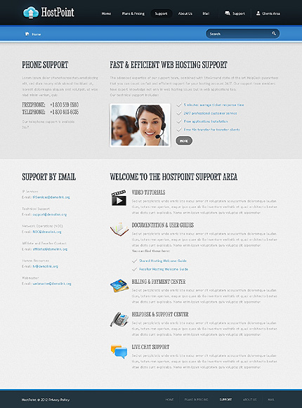Web Hosting Website Template 37867, Website Templates - Zeronese