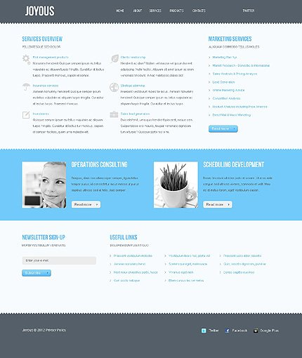 Template 37870 ( Services Page ) ADOBE Photoshop Screenshot