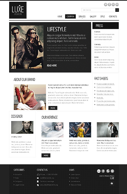 Template 37874 ( Company Page ) ADOBE Photoshop Screenshot
