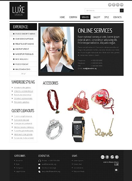 Template 37874 ( Services Page ) ADOBE Photoshop Screenshot