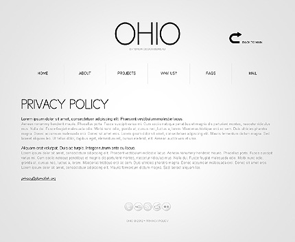 Template 37881 ( Privacy Policy Page ) ADOBE Photoshop Screenshot