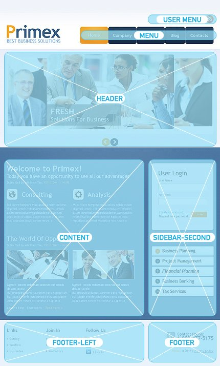 Drupal Template 37886 Main Page Screenshot