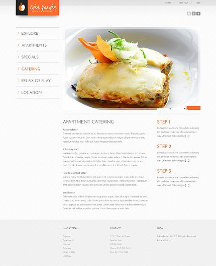 Template 37919 ( Catering Page ) ADOBE Photoshop Screenshot