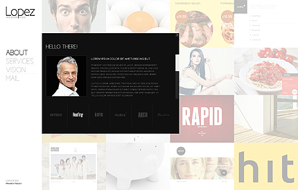 Template 37920 ( About Page ) ADOBE Photoshop Screenshot