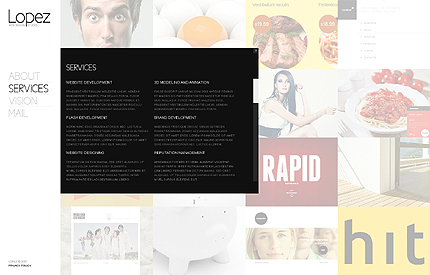 Template 37920 ( Services Page ) ADOBE Photoshop Screenshot