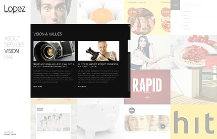 Template 37920 ( Vision Page ) ADOBE Photoshop Screenshot