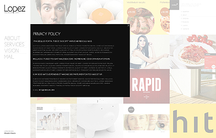 Template 37920 ( Privacy Policy Page ) ADOBE Photoshop Screenshot