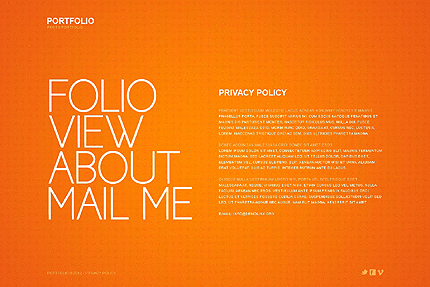 Template 37921 ( Privacy Policy Page ) ADOBE Photoshop Screenshot