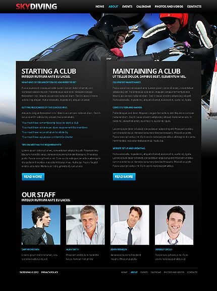 Template 37924 ( About Page ) ADOBE Photoshop Screenshot