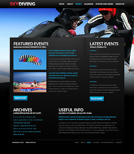 Template 37924 ( Events Page ) ADOBE Photoshop Screenshot