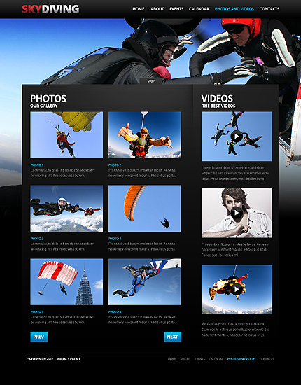 Template 37924 ( Photos And Videos Page ) ADOBE Photoshop Screenshot