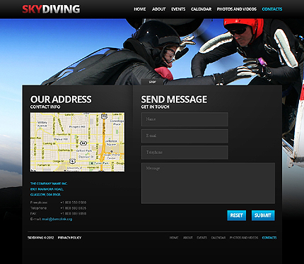 Template 37924 ( Contacts Page ) ADOBE Photoshop Screenshot