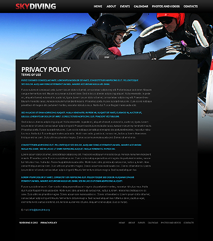 Template 37924 ( Privacy Policy Page ) ADOBE Photoshop Screenshot