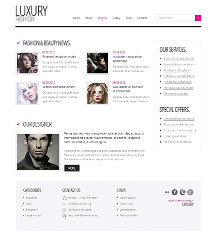 Template 37925 ( Services Page ) ADOBE Photoshop Screenshot